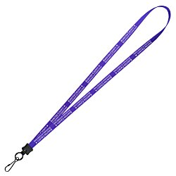 View a larger, more detailed picture of the Smooth Nylon Lanyard - 1 2 - 36 - Metal Swivel Snap Hook