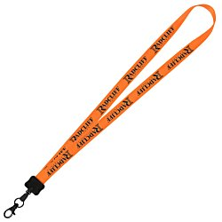 View a larger, more detailed picture of the Smooth Nylon Lanyard - 3 4 - 32 - Metal Swivel Hook