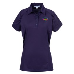 View a larger, more detailed picture of the Fine Stripe Performance Polo - Ladies