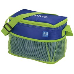 View a larger, more detailed picture of the Chill by Flexi Freeze 6-Can Cooler with Mesh Pockets