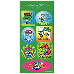 View a larger, more detailed picture of the Super Kid Sticker Sheet - Go Green