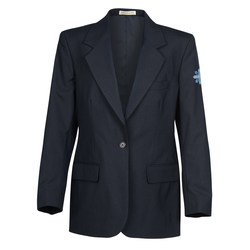 View a larger, more detailed picture of the Poly Wool Single Breasted Suit Coat - Ladies