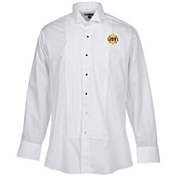 View a larger, more detailed picture of the Pintuck Bib Tuxedo Shirt - Men s