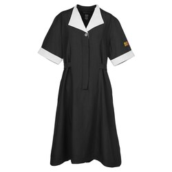 View a larger, more detailed picture of the Black Spun Polyester Housekeeping Dress