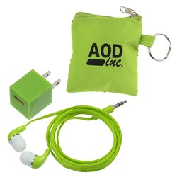 View a larger, more detailed picture of the Charger Pouch with Ear Buds