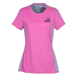 View a larger, more detailed picture of the Boston Color Block Training Tech Tee - Ladies