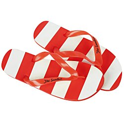View a larger, more detailed picture of the Striped Flip Flops - 24 hr