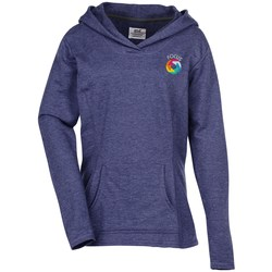 View a larger, more detailed picture of the Anvil French Terry Crossneck Hoodie - Ladies