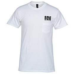 View a larger, more detailed picture of the Hanes Nano-T 4 5 oz Pocket T-Shirt - White