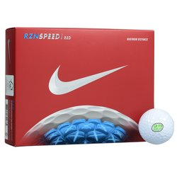 View a larger, more detailed picture of the Nike RZN Speed Red Golf Ball - Dozen - Quick Ship