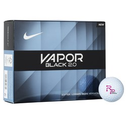 View a larger, more detailed picture of the Nike Vapor Black 2 0 Golf Ball - Dozen - Quick Ship