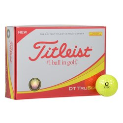 View a larger, more detailed picture of the Titleist DT TruSoft Yellow Golf Ball - Dozen - Quick Ship