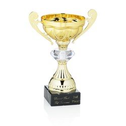 View a larger, more detailed picture of the Jewel Scalloped Trophy - 8