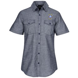 View a larger, more detailed picture of the Burnside Chambray Short Sleeve Shirt