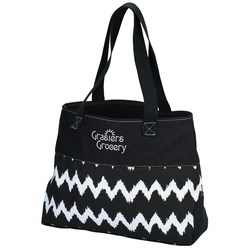 View a larger, more detailed picture of the Ikat Cotton Shopper Tote Bag