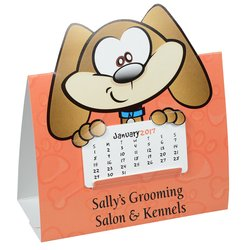 View a larger, more detailed picture of the Die-Cut Desk Calendar - Dog