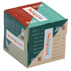 View a larger, more detailed picture of the Fun Shapes Cube Calendar - Angles