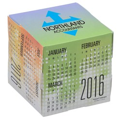 View a larger, more detailed picture of the Fun Shapes Cube Calendar - Dots