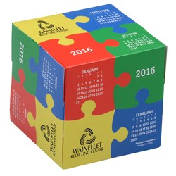 View a larger, more detailed picture of the Fun Shapes Cube Calendar - Puzzle