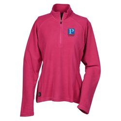 View a larger, more detailed picture of the Dri Duck Fusion 1 4 Zip Nano Fleece Pullover - Ladies