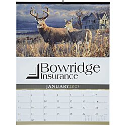 View a larger, more detailed picture of the Wildlife Art Large Wall Calendar