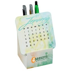 View a larger, more detailed picture of the Coaster Desk Top Calendar - Watercolor
