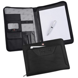 View a larger, more detailed picture of the Wenger Deluxe Ballistic Zippered Padfolio Set