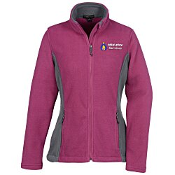 View a larger, more detailed picture of the Crossland Colorblock Fleece Jacket - Ladies