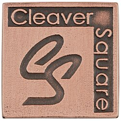 View a larger, more detailed picture of the Econo Lapel Pin - Square