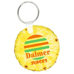 View a larger, more detailed picture of the Round Soft Key Tag - Full Color