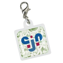 View a larger, more detailed picture of the Retractable Badge Holder Charm - Square