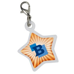 View a larger, more detailed picture of the Retractable Badge Holder Charm - Star