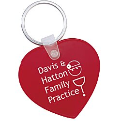 View a larger, more detailed picture of the Heart Soft Key Tag - Opaque
