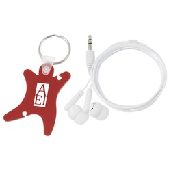 View a larger, more detailed picture of the Ear Bud Wrap Key Tag