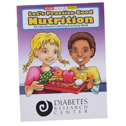 View a larger, more detailed picture of the Practice Good Nutrition Coloring Book