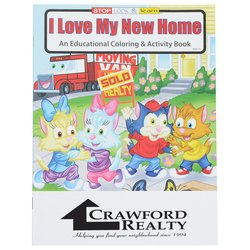View a larger, more detailed picture of the I Love My New Home Coloring Book