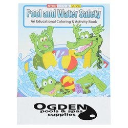 View a larger, more detailed picture of the Pool & Water Safety Coloring Book
