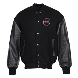 View a larger, more detailed picture of the Burk s Bay Wool & Leather Varsity Jacket