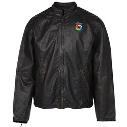 View a larger, more detailed picture of the Burk s Bay Retro Leather Jacket - Men s