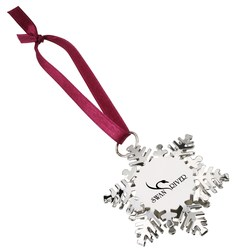 View a larger, more detailed picture of the Holiday Charm Snowflake Ornament