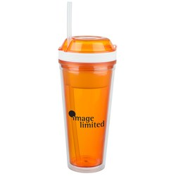 View a larger, more detailed picture of the Snack and Go Tumbler - 16 oz