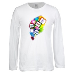 View a larger, more detailed picture of the Gildan SoftStyle LS T-Shirt - Men s - FC - White