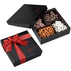 View a larger, more detailed picture of the 4-Way Gift Box - Mini Pretzels