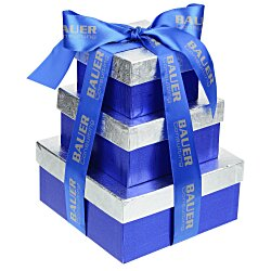 View a larger, more detailed picture of the Chocolate Collection Tower - Blue and Silver