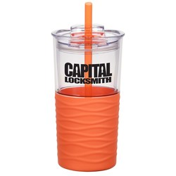 View a larger, more detailed picture of the Ripple Tumbler with Straw - 20 oz