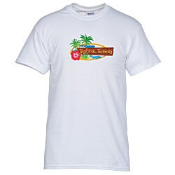 View a larger, more detailed picture of the Gildan 5 3 oz Cotton T-Shirt - Men s - Full Color - White