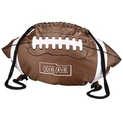 View a larger, more detailed picture of the Game Time Football Drawstring Backpack-Overstock