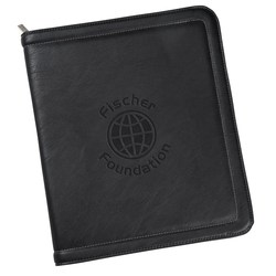 View a larger, more detailed picture of the Kenneth Cole Borders Zippered Padfolio - 24 hr