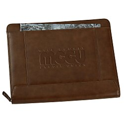 View a larger, more detailed picture of the Cutter & Buck Legacy Zippered Padfolio - 24 hr