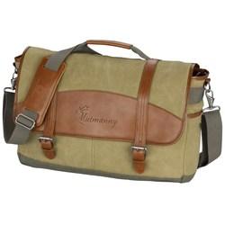 View a larger, more detailed picture of the Cutter & Buck Legacy Cotton Laptop Messenger Bag - 24 hr